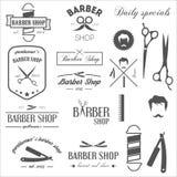 Samling av retro etiketter för tappning, logotyper och stock illustrationer