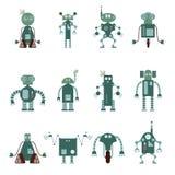 Samling av robotsymboler royaltyfri illustrationer