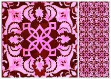 Samling av rosa och röda modelltegelplattor royaltyfri foto