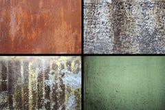 Samling av rostiga texturer Arkivbilder