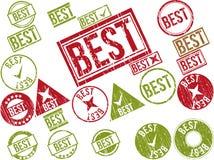 Samling av 22 rubber stämplar för röd grunge med text Royaltyfri Bild
