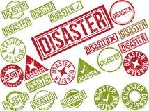 Samling av 22 rubber stämplar för röd grunge med text Arkivfoton