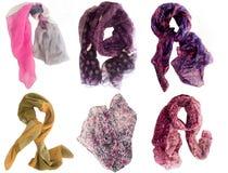 Samling av scarfs Royaltyfria Foton