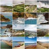 Samling av seascape Arkivfoto
