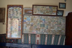 Samling av sedlar inom Royaltyfria Bilder
