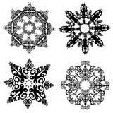 Samling av snöflingor Arkivfoto