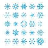 Samling av snowflakes,   Royaltyfria Bilder