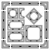 Samling av svarta gränskanter vektor illustrationer