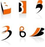 Samling av symboler för bokstav B Royaltyfri Bild