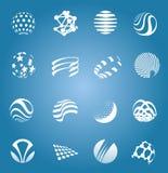 Samling av symboler som isoleras, illustration Arkivfoto