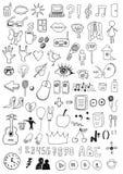 Samling av tecken och symboler Royaltyfri Fotografi