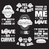 Samling av typografisk bakgrund för citationstecken om fett Arkivfoto