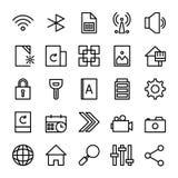 Samling av UI-väsentlighet för mobiltelefon eller rengöringsduk stock illustrationer