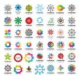 Knyta kontakt logoen vektor illustrationer