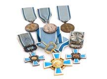 Samling av utmärkelser för Finland statsportar Kouvola 21 Juli 2015 Royaltyfri Bild