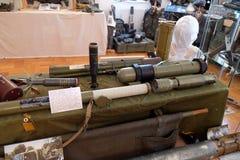 Samling av vapen och utrustning som används under kriget för kroatisk självständighet, Pakrac, Kroatien Royaltyfria Foton