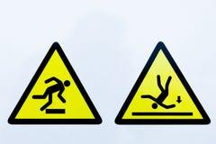 Samling av varningstecken Arkivfoton