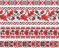 Samling av vegetativa prydnader i den ukrainska stilen Royaltyfria Foton