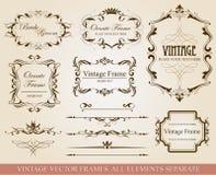 Samling av vektorbeståndsdelar Royaltyfria Bilder
