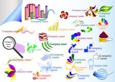 Samling av vektorföretagsetiketter Vektor Illustrationer