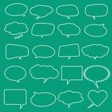 Samling av vita anförandebubblor för komisk stil. Stock Illustrationer