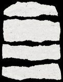 Samling av vitt sönderrivet papper Royaltyfria Foton
