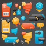 Samling av websitebeståndsdelar Vektor Illustrationer