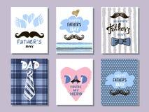Samling cards10 för dag för fader` s vektor illustrationer