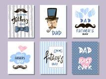 Samling cards12 för dag för fader` s royaltyfri illustrationer