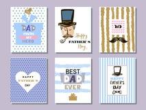 Samling cards2 för dag för fader` s vektor illustrationer
