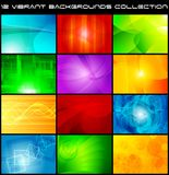 samling eps för 10 abstrakt bakgrunder Arkivfoton
