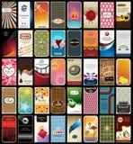 samling för 40 affärskort stock illustrationer