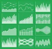 Samling för affärsdiagram Uppsättning av grafer Datavisualization Royaltyfria Bilder