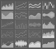 Samling för affärsdiagram Uppsättning av grafer Datavisualization Fotografering för Bildbyråer
