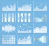 Samling för affärsdiagram Uppsättning av grafer Datavisualization Arkivbild