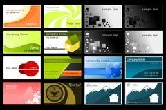 samling för affärskort Arkivbild
