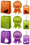Samling för allhelgonaaftonSale shopping Royaltyfria Bilder