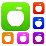 Samling för Apple uppsättningfärg Arkivfoto