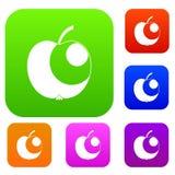 Samling för Apple uppsättningfärg Royaltyfri Fotografi