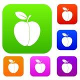Samling för Apple uppsättningfärg Royaltyfri Bild