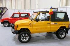 Samling för ARO 10 av epokbilar på på SIAB, Romexpo, Bucharest, Rumänien Royaltyfri Foto