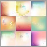 Samling för bakgrund för abstrakt vattenfärgbegreppsvektor suddig För rengöringsduk- och mobilapplikationer stock illustrationer