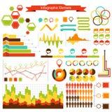 Samling för beståndsdelar för informationsdiagramvektor Arkivbild