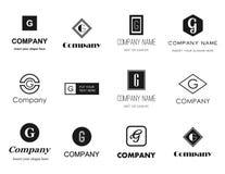 Samling för bokstavsG-logoer Arkivfoto