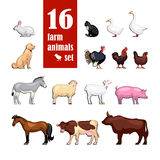 Samling för färg för lantgårddjur Stock Illustrationer