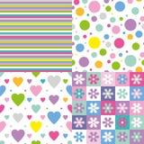 Samling för fyra färgrik bakgrunder stock illustrationer