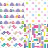 Samling för fyra färgrik bakgrunder Arkivbild