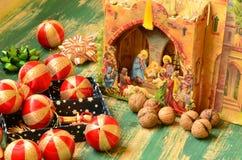 Samling för glad jul för tappning Royaltyfri Bild