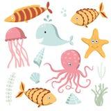 Samling för havsdjur Arkivbild