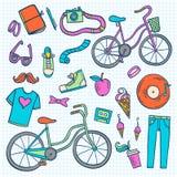 Samling för Hipsterlivsstilsymbol Arkivfoto